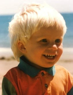 picture of young boy on beach