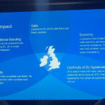 impact of brexit infographic powerpoint slide including UK map